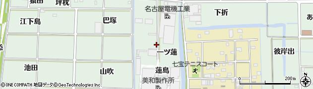 愛知県あま市篠田(一ツ蓮)周辺の地図
