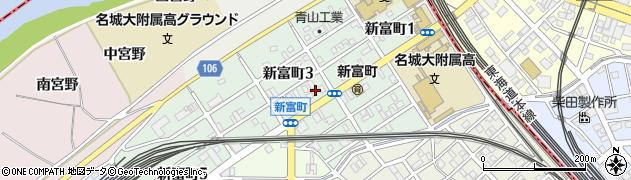 愛知県名古屋市中村区新富町周辺の地図