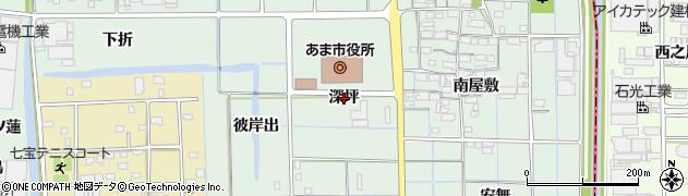 愛知県あま市七宝町沖之島(深坪)周辺の地図