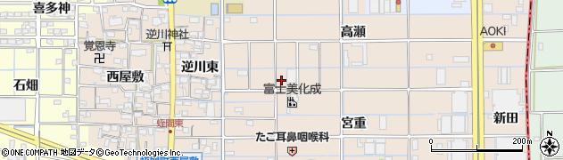 愛知県津島市蛭間町周辺の地図