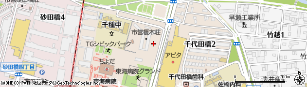 愛知県名古屋市千種区千代田橋周辺の地図