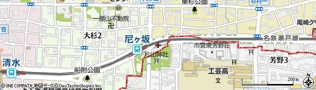 愛知県名古屋市北区芳野周辺の地図