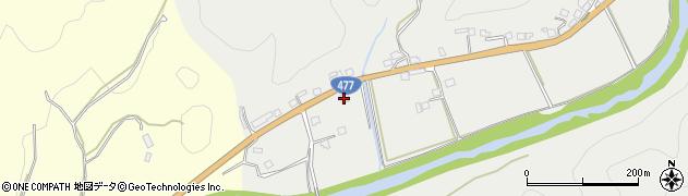 京都府京都市右京区京北大野町(小倉)周辺の地図