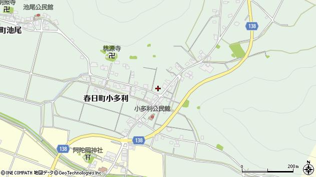 〒669-4122 兵庫県丹波市春日町小多利の地図
