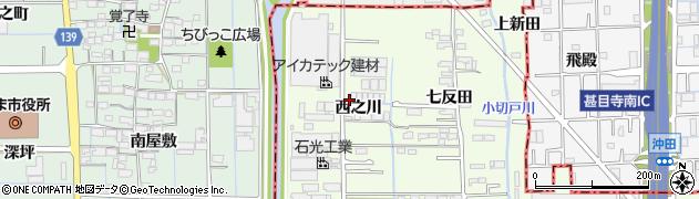 愛知県大治町(海部郡)西條(西之川)周辺の地図