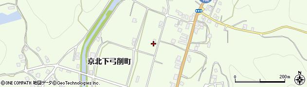 京都府京都市右京区京北下弓削町(中ノ元)周辺の地図