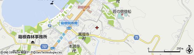 神奈川県箱根町(足柄下郡)箱根周辺の地図