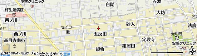 愛知県あま市中萱津(五反田)周辺の地図