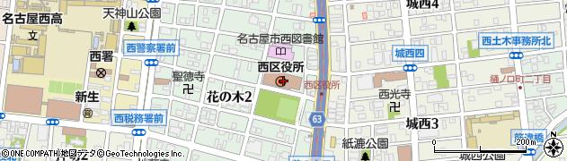 愛知県名古屋市西区周辺の地図