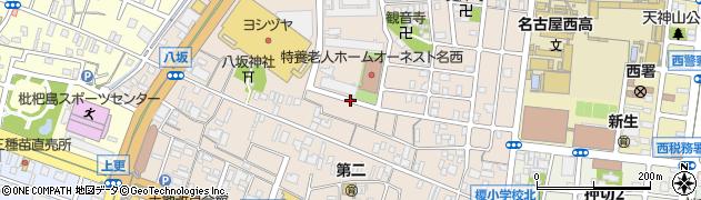 愛知県名古屋市西区名西周辺の地図