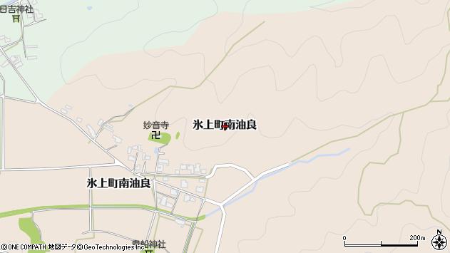 〒669-3654 兵庫県丹波市氷上町南油良の地図