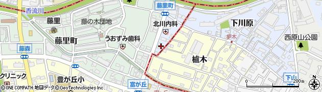 愛知県名古屋市名東区藤香町周辺の地図