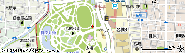 愛知県名古屋市北区名城周辺の地図