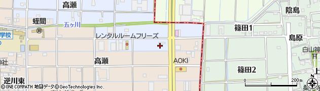 愛知県津島市寺野町(五反田)周辺の地図