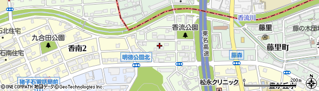愛知県名古屋市名東区藤森西町周辺の地図