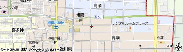 愛知県津島市蛭間町(高瀬)周辺の地図