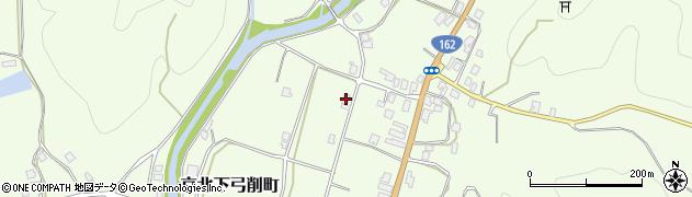 京都府京都市右京区京北下弓削町(町下)周辺の地図