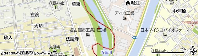愛知県あま市上萱津(三山北ノ割)周辺の地図