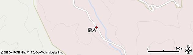 愛知県豊田市日下部町(滑入)周辺の地図