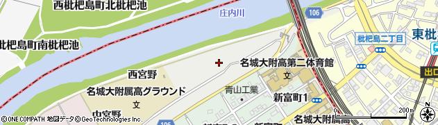 愛知県名古屋市中村区枇杷島町(池洲)周辺の地図