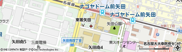 愛知県名古屋市東区矢田南4丁目周辺の地図