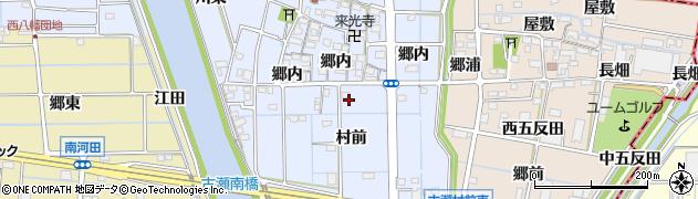 愛知県愛西市古瀬町周辺の地図