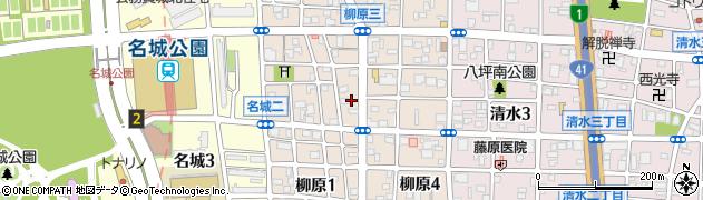 愛知県名古屋市北区柳原周辺の地図