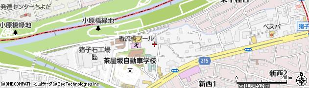 愛知県名古屋市千種区香流橋周辺の地図