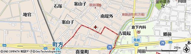 愛知県愛西市町方町(南堤外)周辺の地図