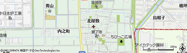 愛知県あま市七宝町沖之島(北屋敷)周辺の地図