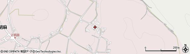 京都府南丹市日吉町上胡麻(竹ケ下)周辺の地図