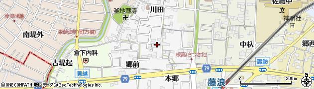 愛知県愛西市根高町周辺の地図