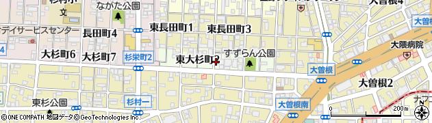 愛知県名古屋市北区東大杉町周辺の地図