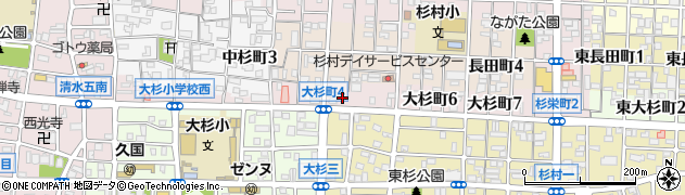 愛知県名古屋市北区大杉町周辺の地図