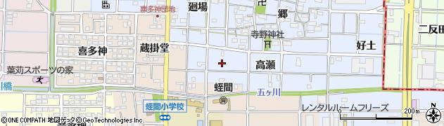 愛知県津島市寺野町(高瀬)周辺の地図