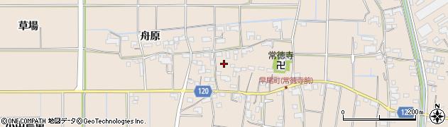 愛知県愛西市早尾町(村北)周辺の地図