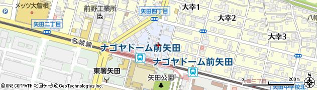 愛知県名古屋市東区矢田東周辺の地図