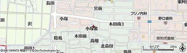 愛知県あま市木田(小塚裏)周辺の地図