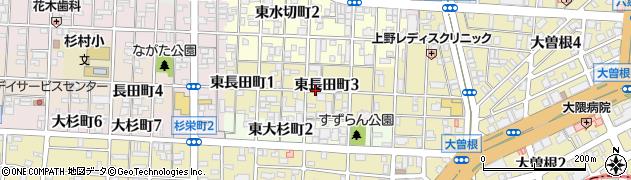 愛知県名古屋市北区東長田町周辺の地図