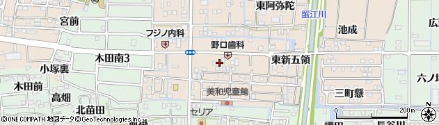 愛知県あま市木田(西新五領)周辺の地図