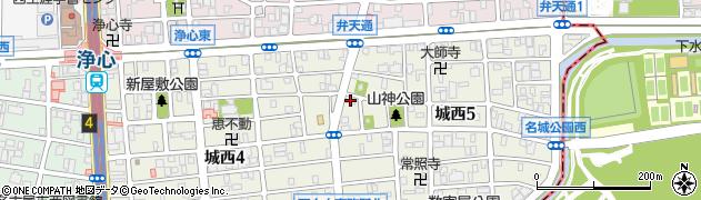 喫茶名城周辺の地図