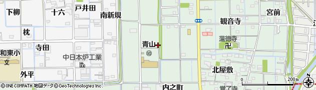 愛知県あま市七宝町沖之島(五反田)周辺の地図