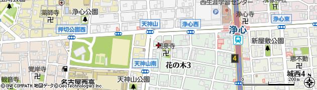 ピザーラ浄心店周辺の地図
