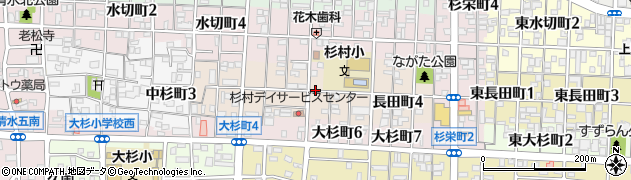 愛知県名古屋市北区長田町周辺の地図