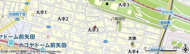 愛知県名古屋市東区大幸周辺の地図