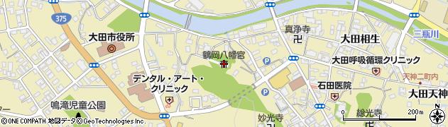 鶴岡八幡宮周辺の地図