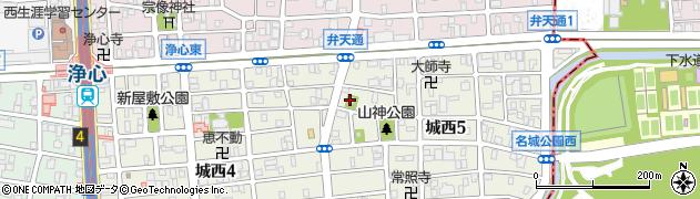 上宿山神社周辺の地図