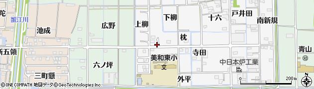 愛知県あま市木折(枕)周辺の地図
