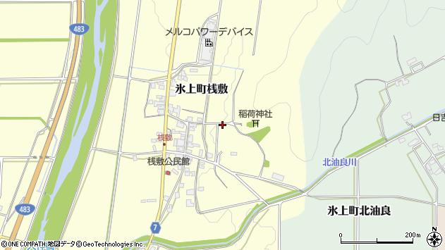 〒669-3652 兵庫県丹波市氷上町桟敷の地図
