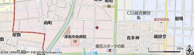 愛知県津島市葉苅町(綿掛)周辺の地図